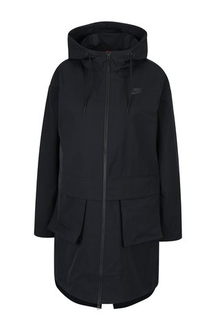 Geaca parka neagra impermeabila cu buzunar detasabil pentru femei Nike