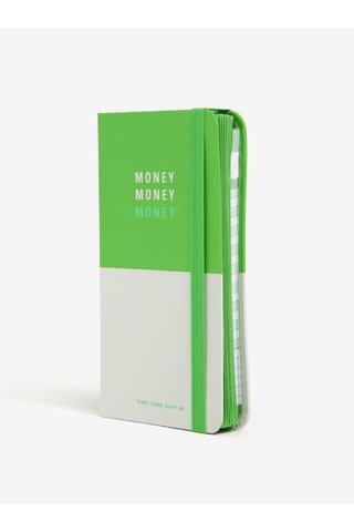 Agenda alb&verde pentru plan financiar Knock Knock