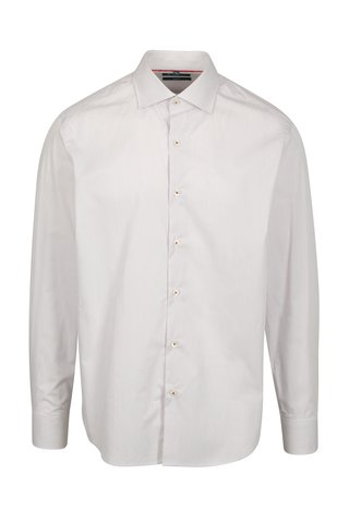 Červená pruhovaná formální slim fit košile Braiconf Iacob
