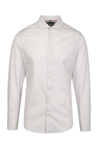Červená pruhovaná formální super slim fit košile Braiconf Iacob