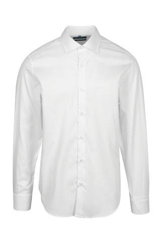Bílá formální slim fit košile s jemným vzorem Braiconf Costin