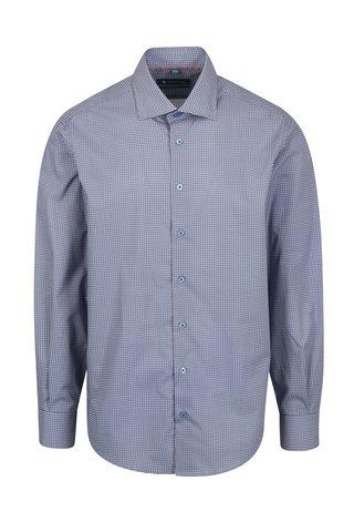 Červeno-modrá vzorovaná formální regular fit košile Braiconf Nicoara