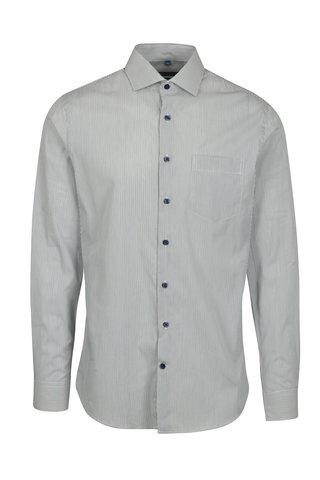 Zelená pruhovaná formální super slim fit košile Braiconf Flaviu