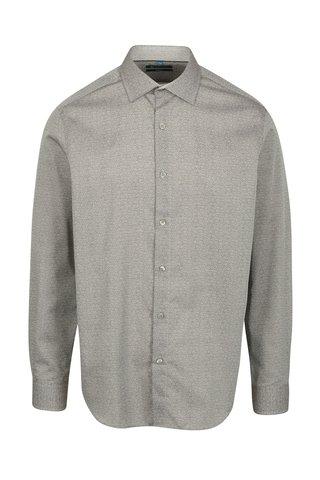 Šedá vzorovaná formální slim fit košile Braiconf Ion