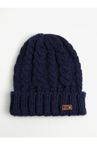 Caciula bleumarin tricotata pentru iarna - Roxy Tram