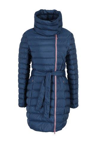 Tmavě modrý voděodpudivý prošívaný dámský kabát LOAP Ikona