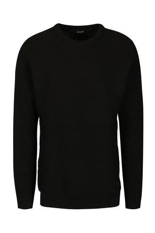 Černý žebrovaný svetr ONLY & SONS Harvey
