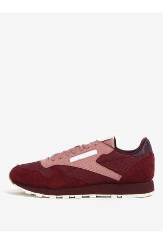 Pantofi sport visinii din piele naturala pentru barbati - Reebok SM