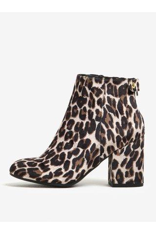 Botine bej cu print leopard Dorothy Perkins