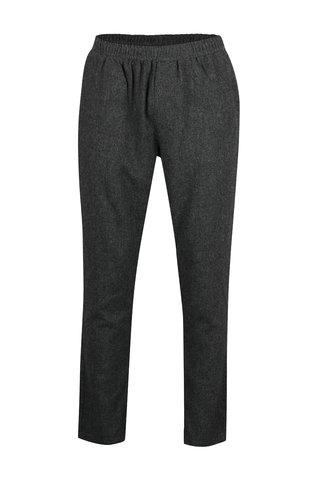 Pantaloni chino gri cu talie elastica SUIT Saxo