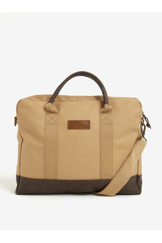 Světle hnědá pánská taška na notebook Makia Brief