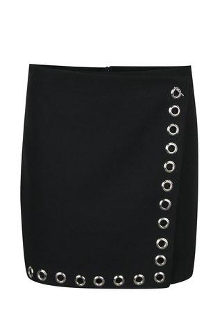 Černá krátká sukně s kovovými detaily Fornarina Mess