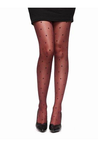 Vínové vzorované pučochové kalhoty Oroblu Cloe