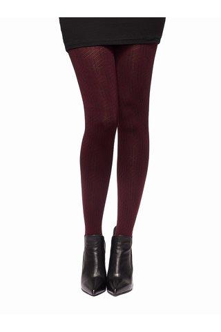 Vínové vzorované punčochové kalhoty Oroblu Gabriela