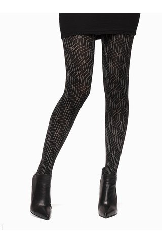 Černé vzorované punčochové kalhoty Oroblu Gabriela