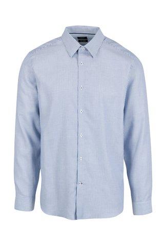 Camasa slim fit alb & albastru pentru barbati - Burton Menswear London