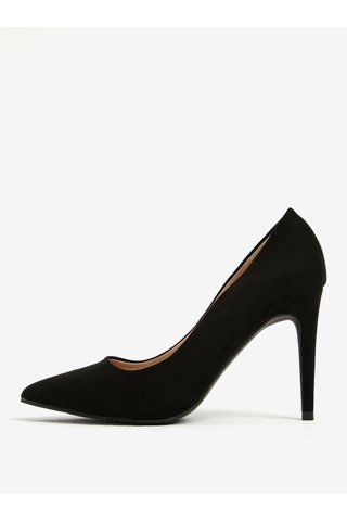 Pantofi negri cu toc cui din piele sintetica Dorothy Perkins