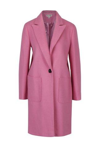 Palton roz cu revere - Miss Selfridge