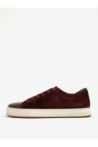 Pantofi sport bordo din piele intoarsa cu varf lacuit GANT Star