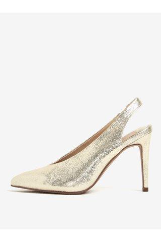 Pantofi aurii cu toc si bareta pe calcai Dorothy Perkins