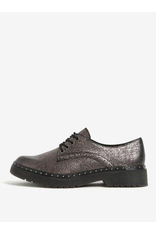 Pantofi argintii cu tinte decorative pentru femei - Tamaris