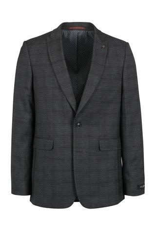 Sacou barbatesc gri cu carouri discrete - Burton Menswear London