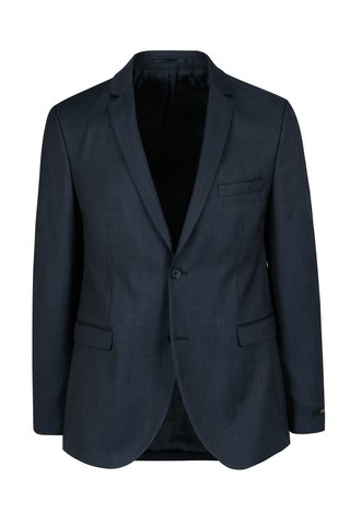 Sacou bleumarin din lana slim Jack & Jones Premium Thom