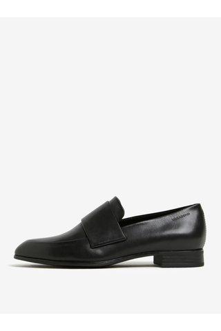 Pantofi negri din piele cu varf ascutit Vagabond Frances