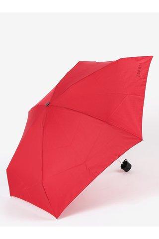 Umbrela telescopica rosie pentru femei - Esprit