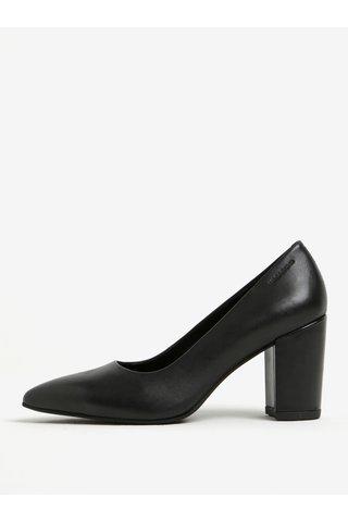 Pantofi negri din piele cu toc patrat Vagabond Saida