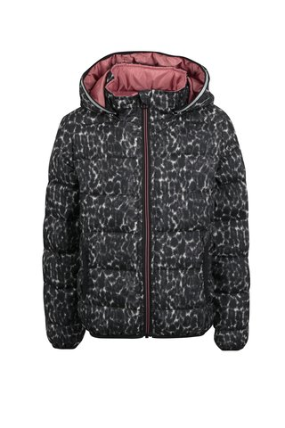 Šedo-černá holčičí prošívaná zimní bunda Name it Moni