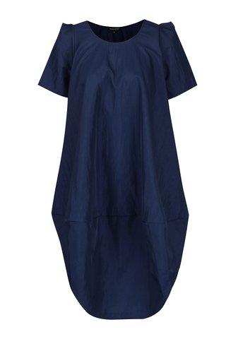 Tmavě modré balónové šaty s bočními kapsami Bianca Popp