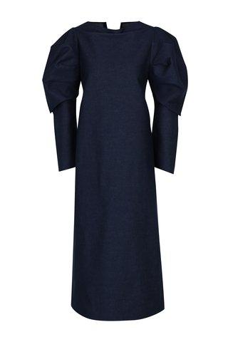 Modré džínové šaty s 3/4 balónovými rukávy Bianca Popp