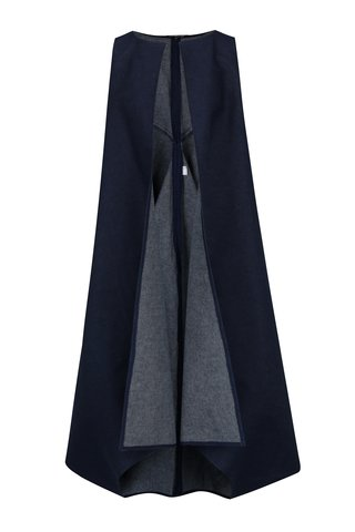 Tmavě modrá dlouhá džínová vesta Bianca Popp