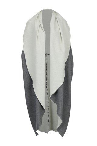 Šedá dlouhá kolová vesta Bianca Popp