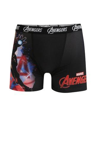 Boxeri rosu & negru cu print pentru barbati Avengers