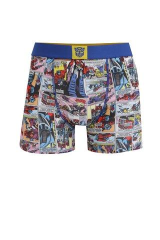 Boxeri albastri cu print pentru barbati Transformers Freegun