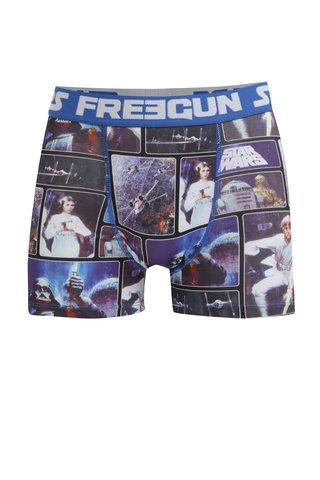 Boxeri albastri & bleumarin cu print Star Wars Freegun