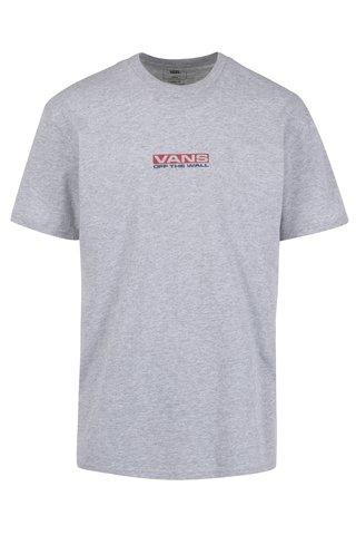 Šedé pánské tričko s potiskem na zádech VANS Side Waze