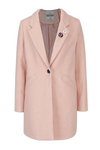 Palton roz cu buzunare si insigne TALLY WEiJL