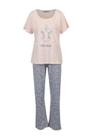 Šedo-růžové pyžamo s ledními medvědy Dorothy Perkins