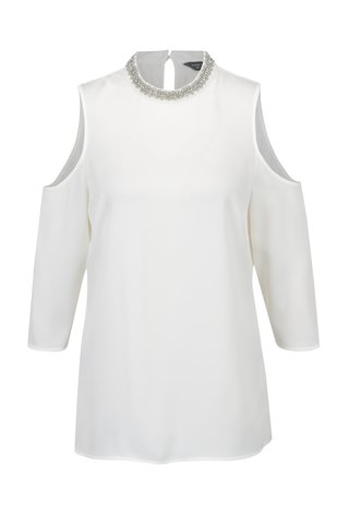 Bluza crem cu decupaje si aplicatii decorative Dorothy Perkins Tall