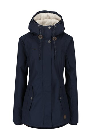 Geaca bleumarin de iarna cu gluga pentru femei - Ragwear Monade