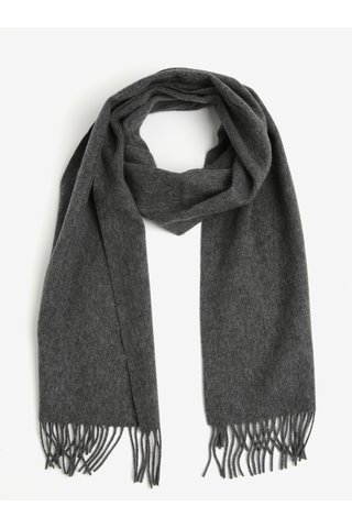 Fular din lana gri cu franjuri - Selected Homme Tope