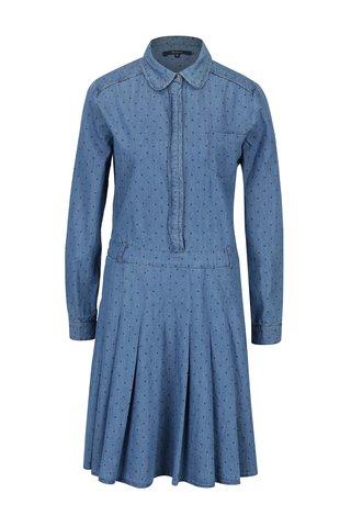 Rochie - camasa albastra din denim cu buline -  Pepe Jeans Tasia