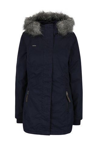 Geaca bleumarin de iarna cu gluga pentru femei - Ragwear Break Long