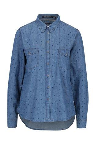 Camasa albastra din denim cu buline pentru femei - Pepe Jeans Monique