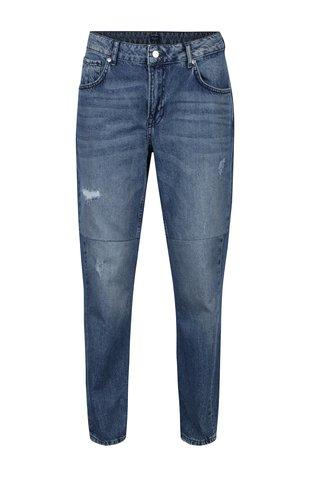 Blugi mom albastri cu aspect uzat si prespalat - Pepe Jeans Violet Twist