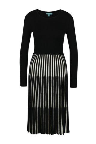 Rochie tricotata neagra cu pliuri Fever London Lewes