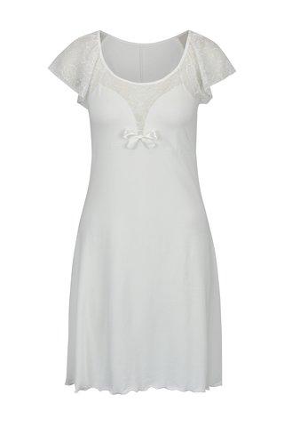 Krémová noční košilka s krajkovými detaily Eldar Ines